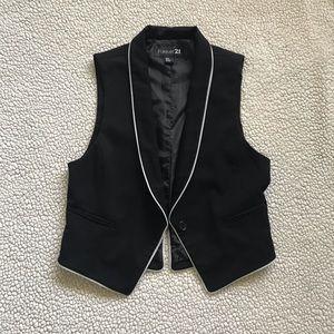 Women's Tuxedo Vest with White Trim